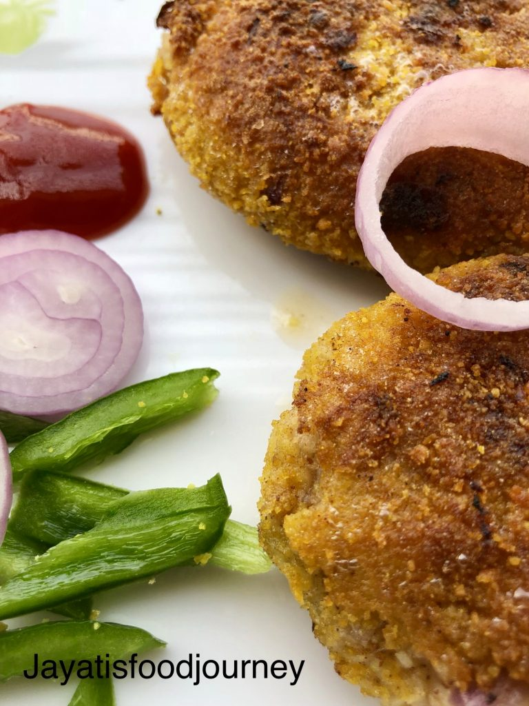 Rice and veggie cutlet